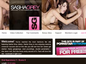 Welcome to Sasha Grey Videos - nasty gangbangs, anal poundings, double penetration - she does it all!