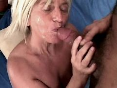 Aged mature fucks and sucks out cum