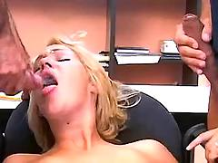 Secretary gets cumshot