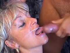 Old whore gets fuck in ass and cum