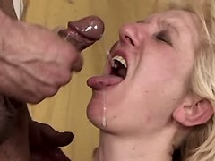Mature gets fresh cumshot