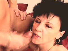 Mature fucking and getting facial