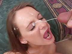 Brunette With Nice Tits Blows Dick Well & Gets Creamy Stroke