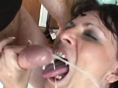 Chubby hottie gets lavish cumload