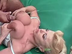 Mature nurse gets cumshot