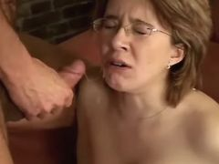 Pregnant cutie gets cum after fuck