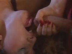 Rough double penetration and facial