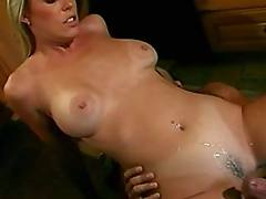 Sex n cumshot in kitchen