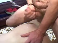 Granny gets fuck and cumload on ass