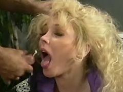 Beautiful mature gets cum in mouth