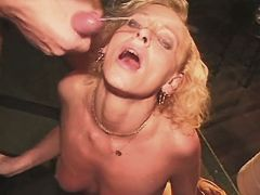 Milf gets cum after all types fuck